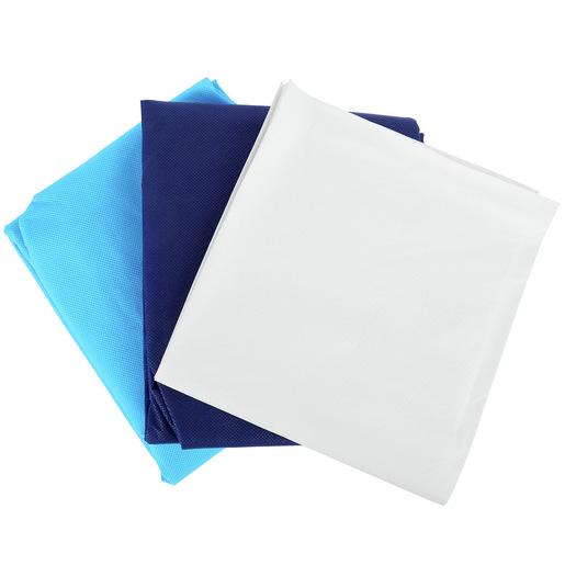 Curaplex® 3-Piece Disposable Bedding Kit w/ Regular Fitted Sheet, Flat Sheet, and Pillow Case