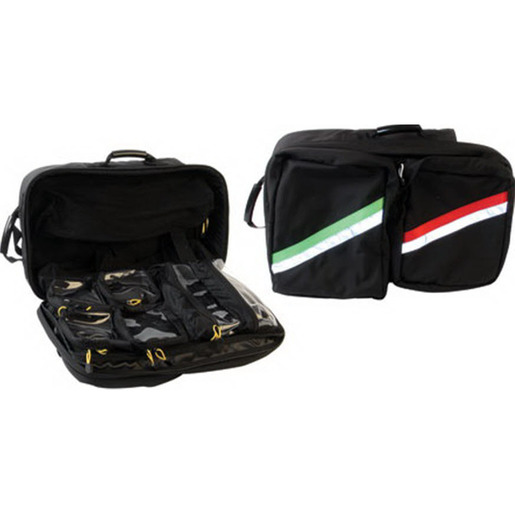 Airway/Trauma Backpack, Black w/Yellow and Red Stripe