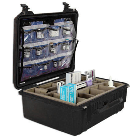 *Discontinued* Pro Hard Drug Case with Lid Insert and Bottom Dividers, Black