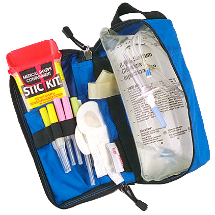 IV Admin Module with Sharps Container, Royal Blue