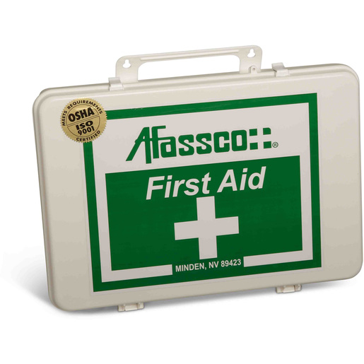 First Aid Kit, Small, 6-1/2in x 9-1/2in x 2-3/4in, Poly