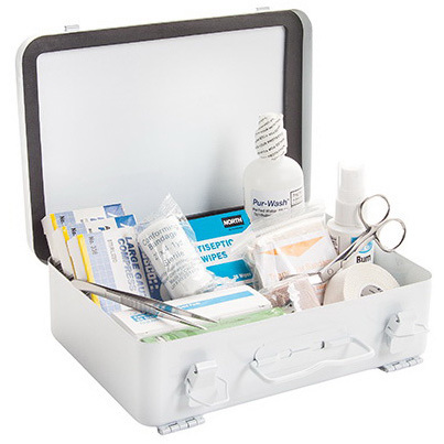 First Aid Truck Kit, 9-1/2in x 6-5/8in x 2-1/2in