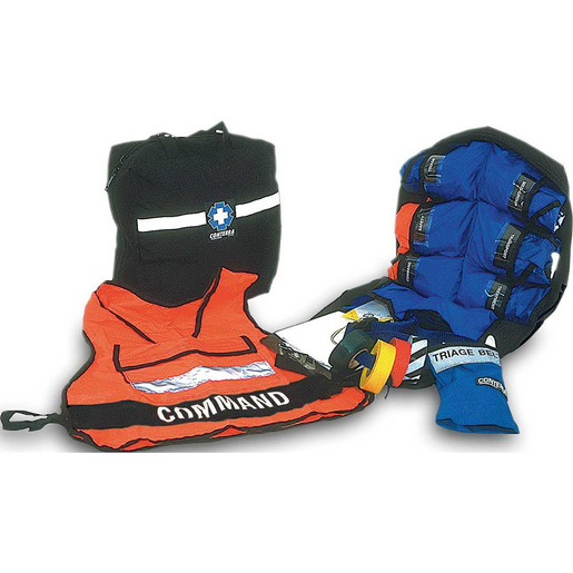 MCI Kit with 6 Heavy Duty Nylon Vests and Triage Belt, 16in x 16in x 8in