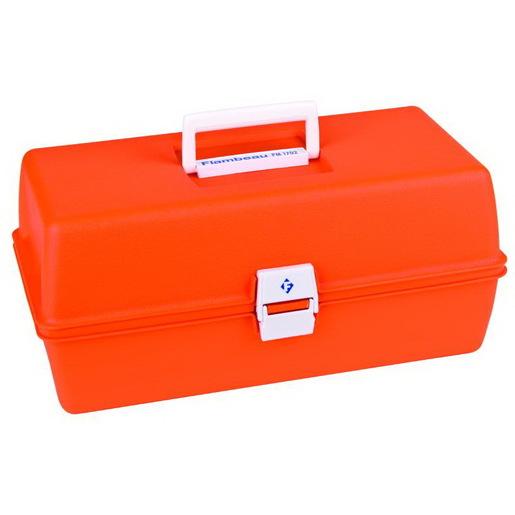 Flambeau First Aid Case, 15in L x 6-3/4in W x 6-1/2in D, Model 1702, Orange, Copolymer Resin