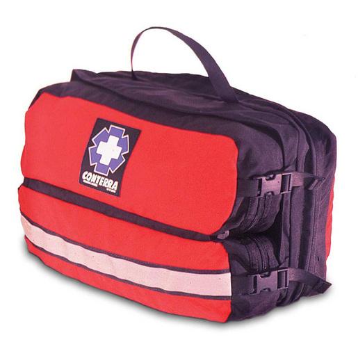 Infinity Pro Modular Medical Organizer, 9in x 15in x 7in, Red/Black