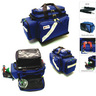 Oxygen/Trauma/Airway Deployment Kit, 23in L x 6-1/2in W x 14-1/4in D, Blue, Fluid Resistant