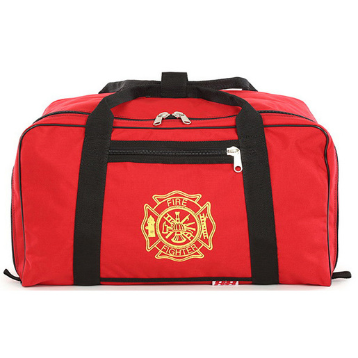Gear Bag, X-Large, 13-1/2in x 16in x 24in, Red, Cordura® Nylon, With Firefighter Insignia