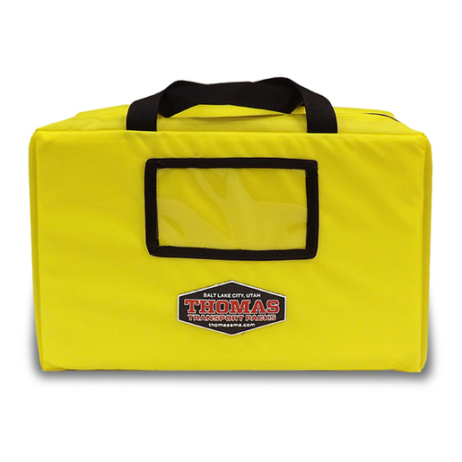 Padded Drug Case, 13in x 9in x 3.5in, Yellow