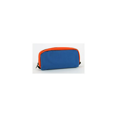 EMS Intubation Pouch, 13in x 9in x 3.5in, Blue/Orange