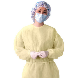 Lightweight Multi-ply Fluid Resistant Isolation Gown, Yellow, Regular