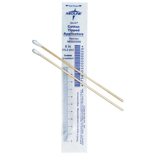 Cotton Tip Applicator, 6in L