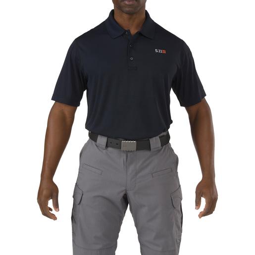 5.11® Men's Pinnacle Short Sleeve Polo Shirt, Dark Navy, Small
