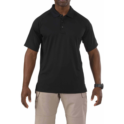 5.11 Men's Performance Polo Shirts, Short Sleeve, Black