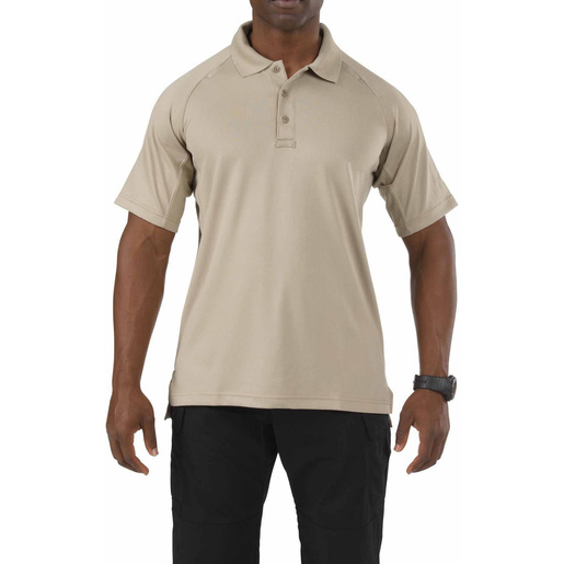 5.11 Men's Performance Polo Shirts, Short Sleeve, Silver Tan