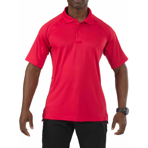 5.11 Men's Performance Polo Shirts, Short Sleeve, Range Red