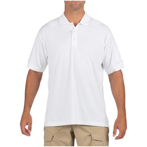 5.11 Men's Tactical Polo Shirts, Short Sleeve, White