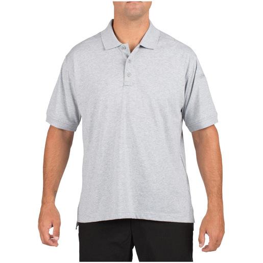 5.11 Men's Tactical Polo Shirts, Short Sleeve, Heather Grey