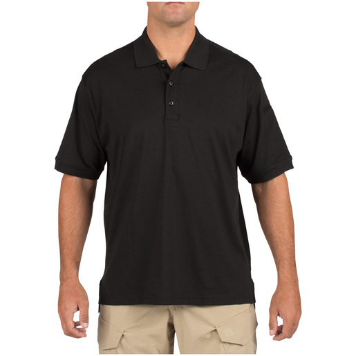 5.11 Men's Tactical Polo Shirts, Short Sleeve, Black