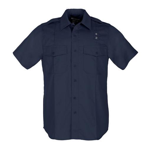 5.11 Men PDU Twill Class A Short Sleeve Shirt, Midnight Navy