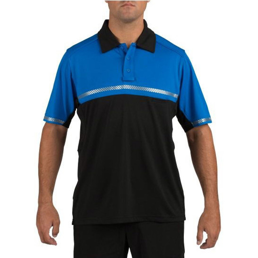 5.11® Bike Patrol Short Sleeve Polo Shirt, Royal Blue, Large
