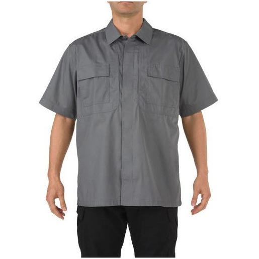 5.11 Men's Taclite TDU, Short Sleeve Shirts, Storm, Tall