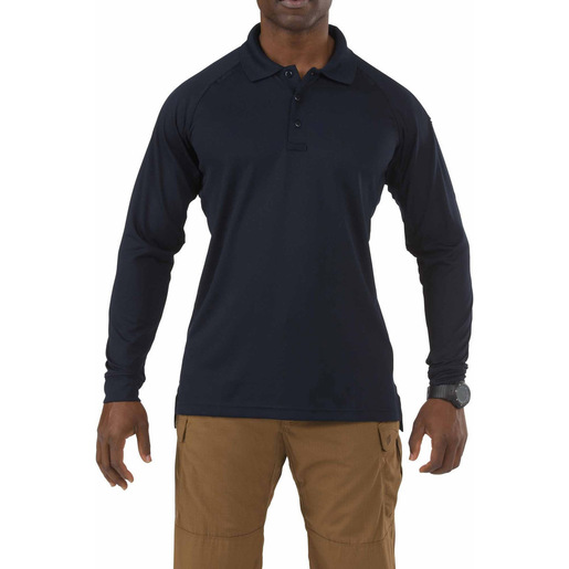 5.11 Men's Performance Polo Shirts, Long Sleeve, Dark Navy