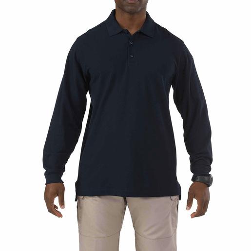 5.11 Utility Long Sleeve Polo, Unisex, Dark Navy