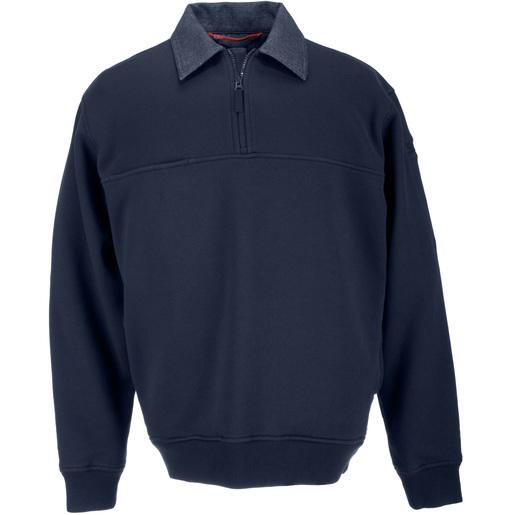 5.11 Men's Job Shirts w/Denim Details, Fire Navy