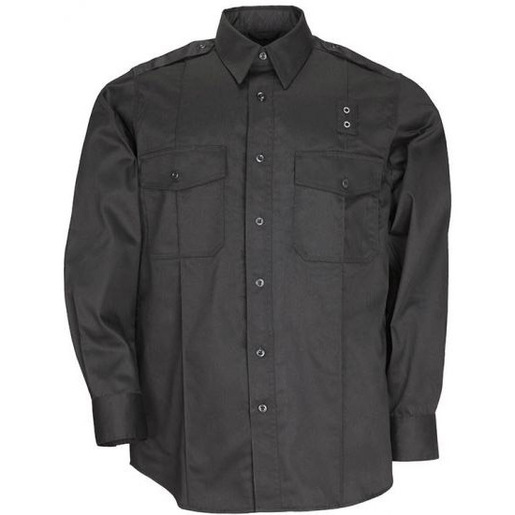 5.11, Shirt, PDU Twill Class A, Long Sleeve, Men, Black