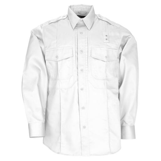 5.11 Men PDU Twill Class B Shirt, Long Sleeve, White