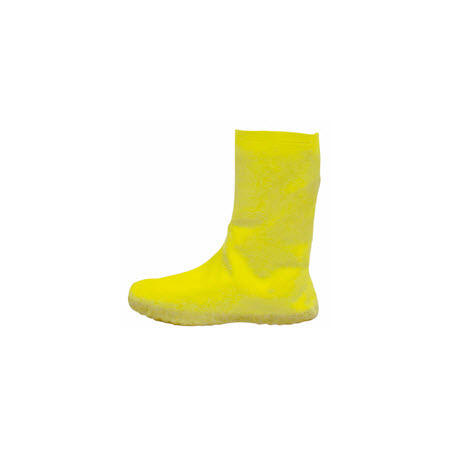 Hazmat Bootie, Large, Yellow, Latex