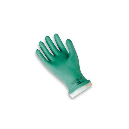 Sol-Vex® 15 mil Nitrile Flock Lined Chemical Resistant Gloves with Straight Cuff, XL