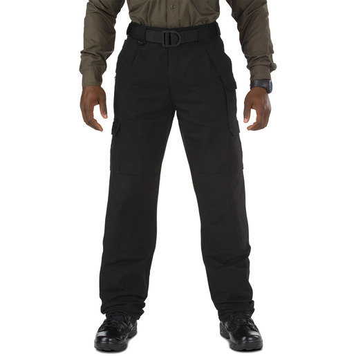 5.11 Men's Cotton Tactical Pants, Unhemmed, Black
