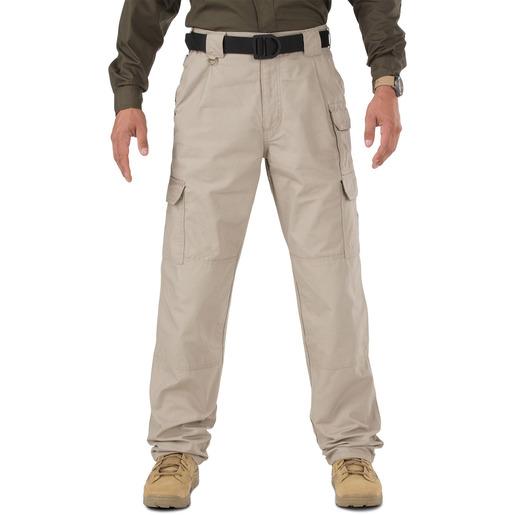 5.11 Men's Cotton Tactical Pants, Unhemmed, Khaki