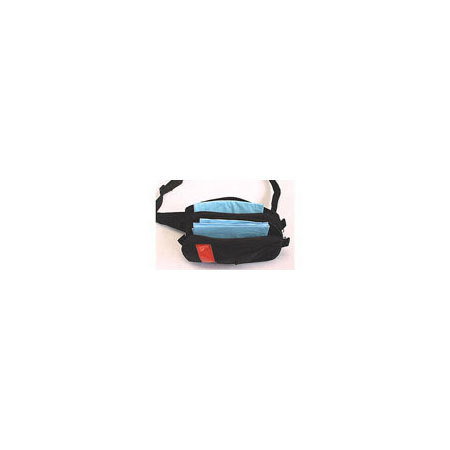 Fanny Pack, Black with Red Reflective Stripe