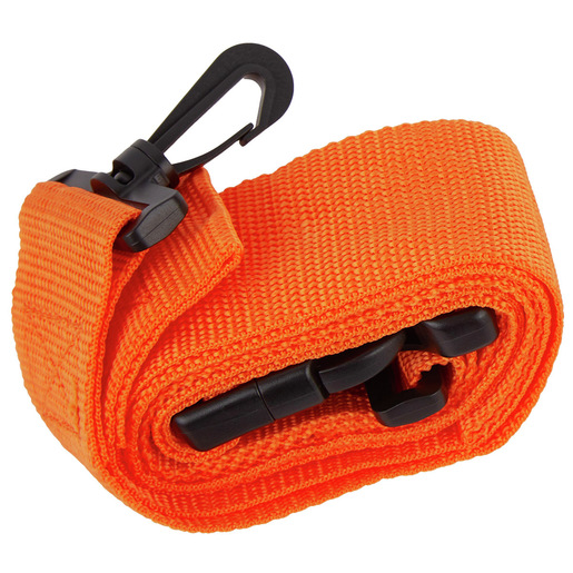 Curaplex® Restraint Strap with Side Release Buckle and Swivel Speed Clips, 5ft, Orange