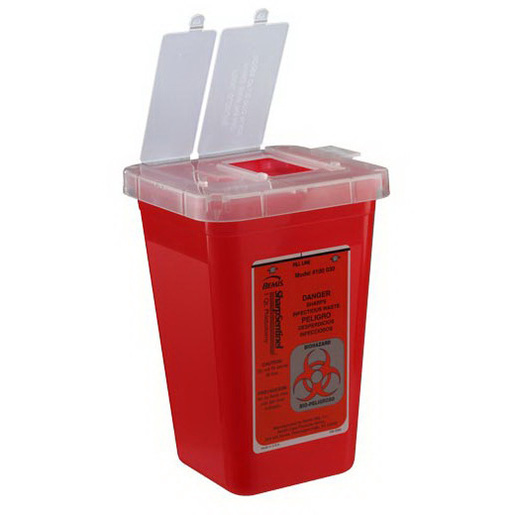 Sentinel Phlebotomy & Multi-Use Sharps Container, 1qt, Red