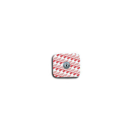 *Discontinued* Red Dot™ Monitoring Electrodes with Foam Tape and Sticky Gel, Adult, 1.36in L x 1.60in W Size