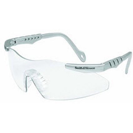 Smith and Wesson Magnum 3G Safety Glasses, Clear Lens, Platinum Frame