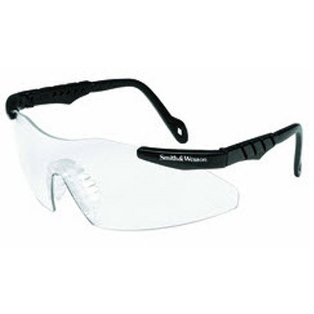 Smith and Wesson Magnum 3G Mini Safety Glasses, Clear Lens, Black Frame *Non-Returnable and Non-Cancelable*