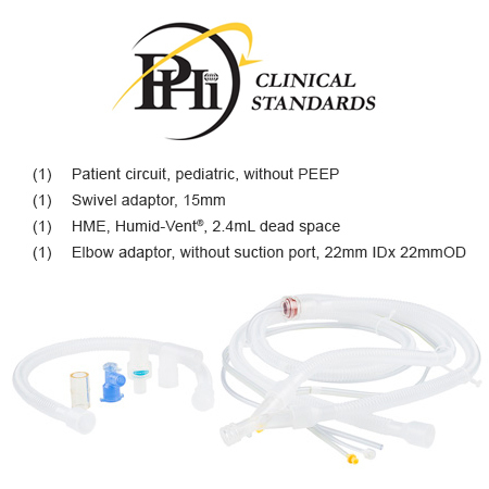 *PHI ONLY* Ventilator Circuit Kit with HME, Pediatric