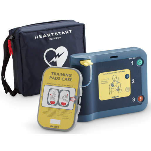 HeartStart FRx AED Trainer with Carry Case and Training Pads