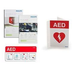 AED Signage Bundle with Wall Sign, Placard and Posters