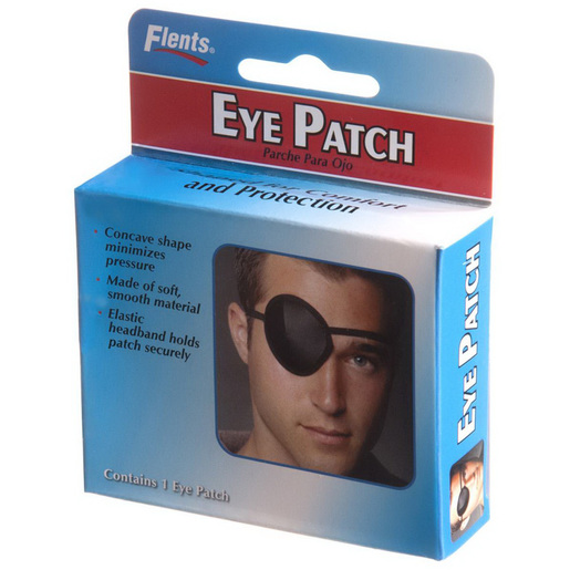Flents Eye Patch, Black, Adult