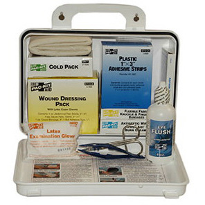 Pac-Kit® First-Aid Kit, 6.5in x 9.5in x 2.75in, Plastic Case, 25 Person