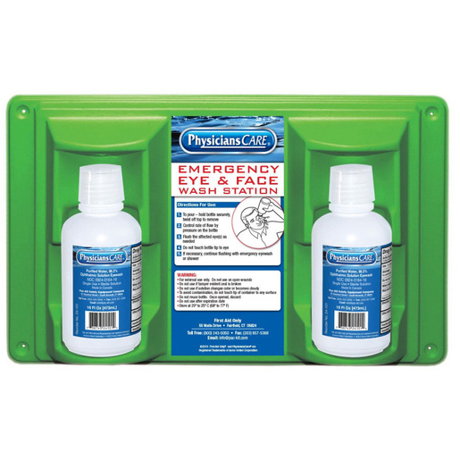 First Aid Only Eyewash Station, 16oz, Sterile