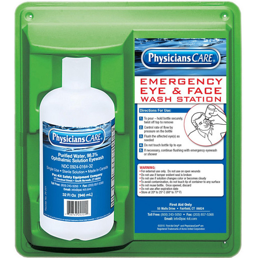 First Aid Only Eyewash Station, 32oz, Sterile