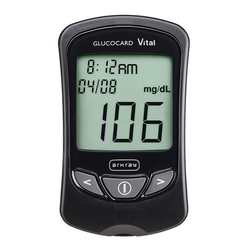 Glucocard Vital Blood Glucose Meter, 0.5μL Sample Volume