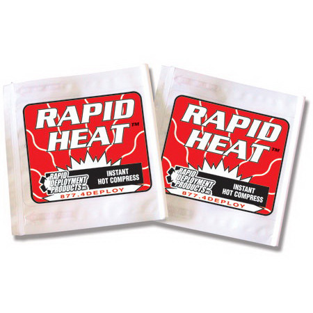 Rapid Heat™ Disposable Hot Packs, 11in x 5-1/2in