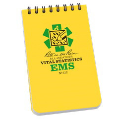 Rite in the Rain EMS Notebook, Yellow, 3in x 5-1/4in